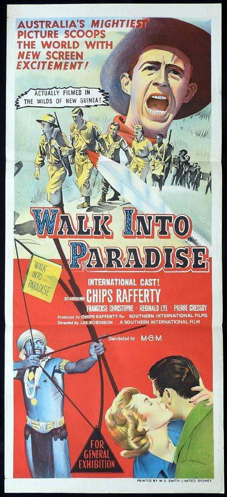 WALK INTO PARADISE Original Daybill Movie Poster CHIPS RAFFERTY New Guinea