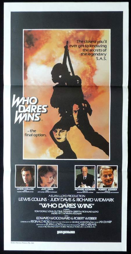 WHO DARES WINS Original daybill Movie Poster Lewis Collins Judy Davis