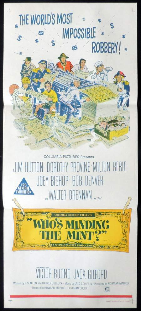 WHO'S MINDING THE MINT Original daybill Movie Poster Jim Hutton Dorothy Provine