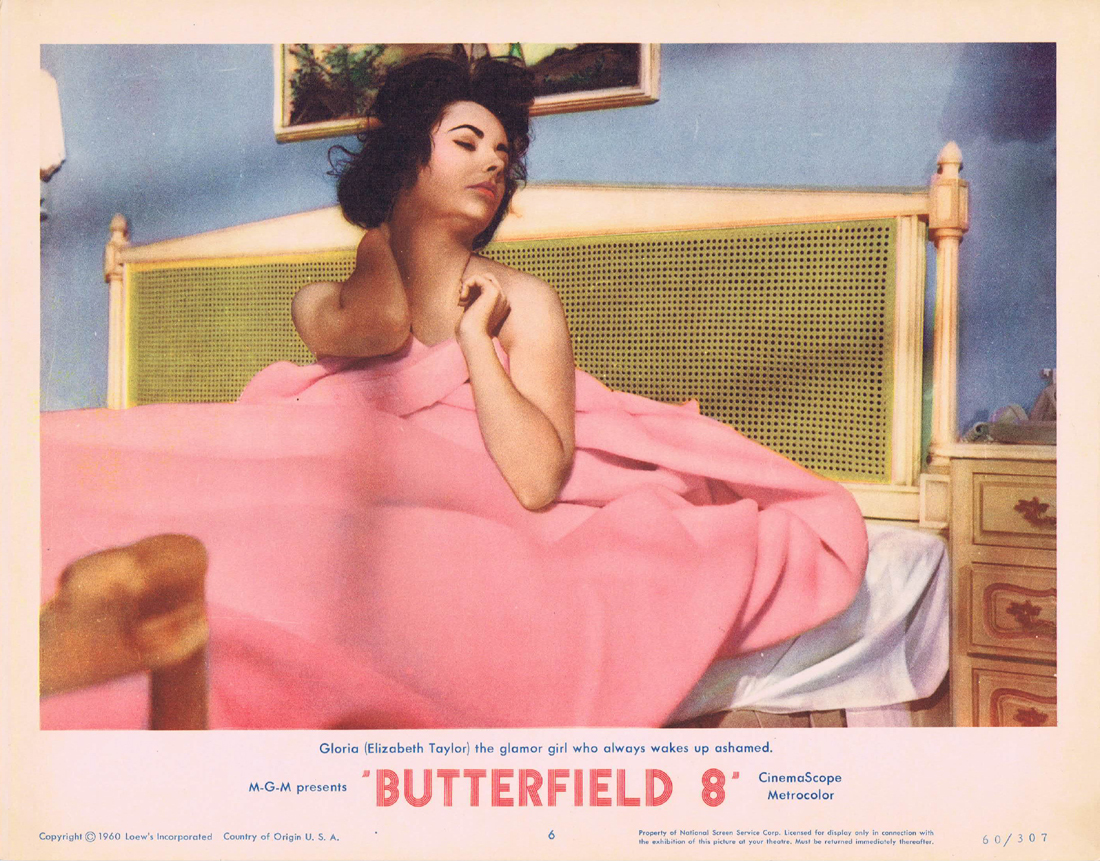 BUTTERFIELD 8 Lobby Card 6 Elizabeth Taylor Eddie Fisher Laurence Harvey