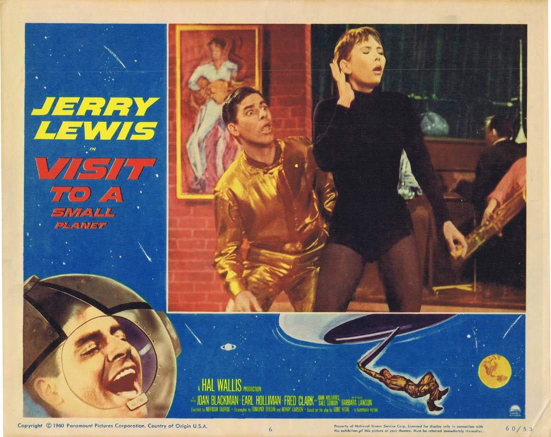 VISIT TO A SMALL PLANET Lobby Card 6 Jerry Lewis