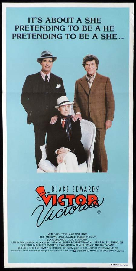 VICTOR VICTORIA Original Daybill Movie Poster Julie Andrews James Garner Robert Preston