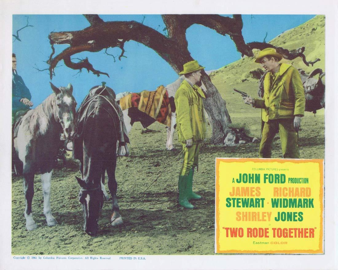TWO RODE TOGETHER Original Lobby Card John Ford James Stewart