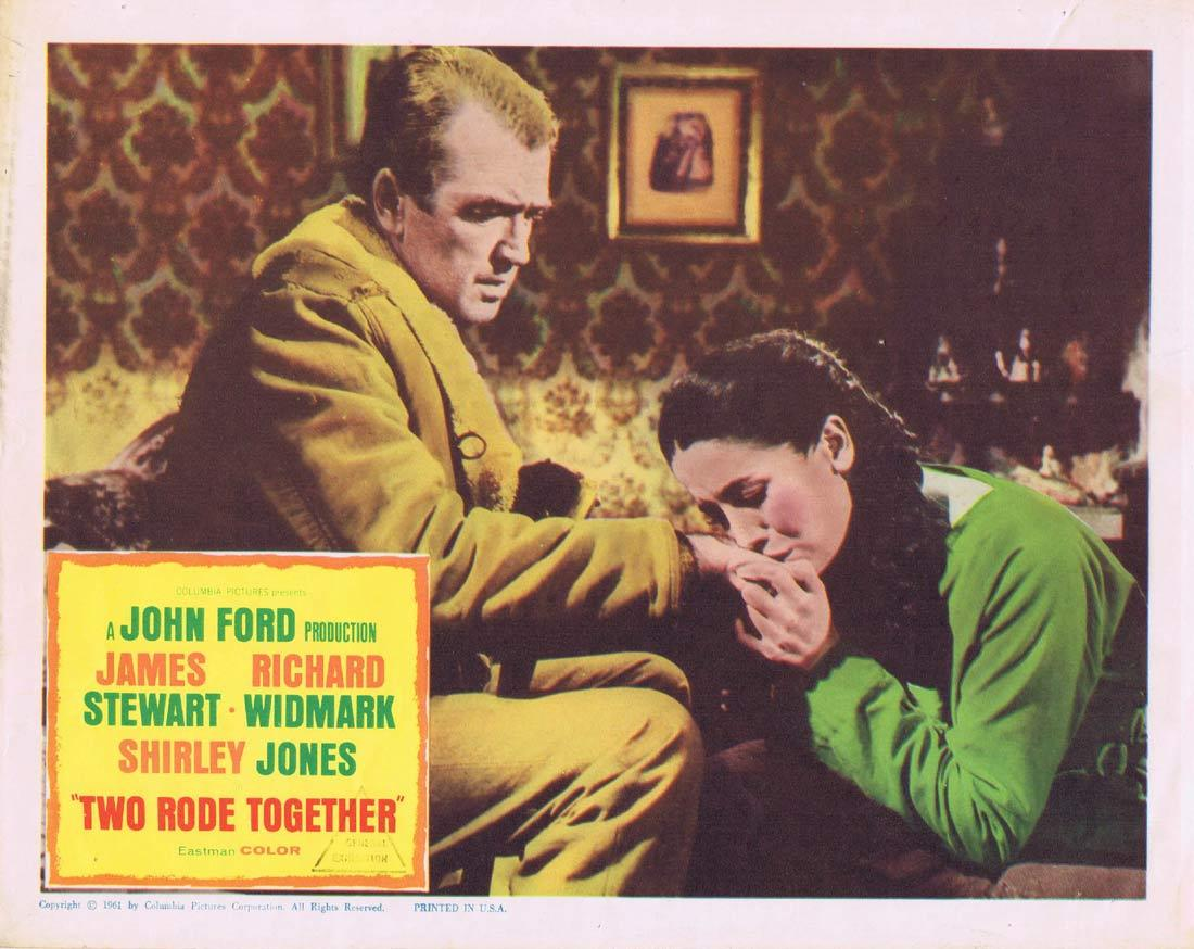 TWO RODE TOGETHER Original Lobby Card James Stewart Richard Widmark John Ford
