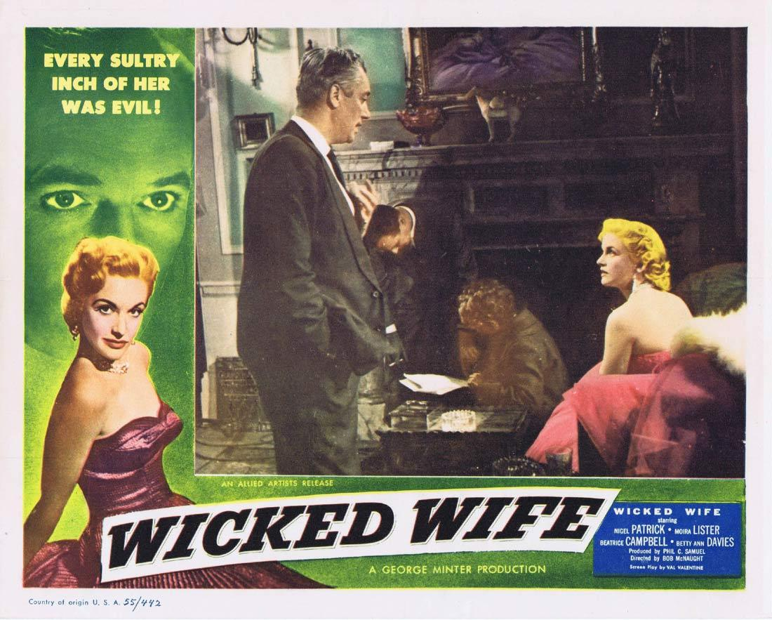 WICKED WIFE Original Lobby Card 3 Nigel Patrick Moira Lister Beatrice Campbell