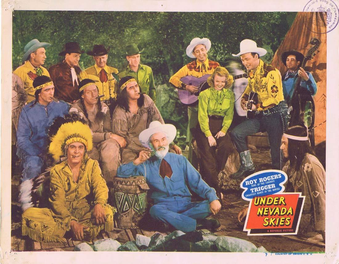 UNDER NEVADA SKIES Vintage Lobby Card Roy Rogers