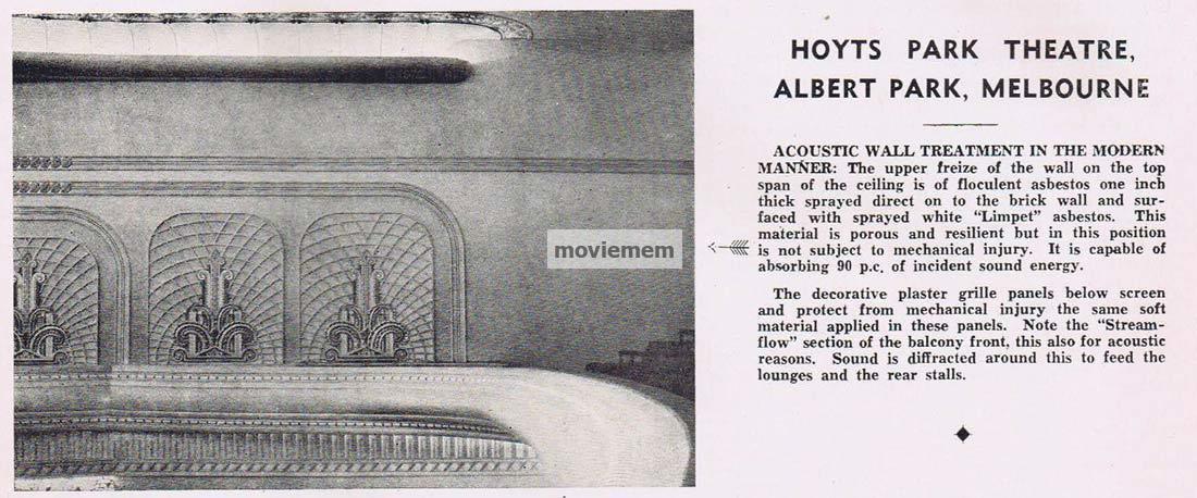 Albert Park Hoyts Theatre Victoria C1930s