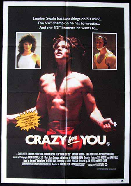 VISION QUEST aka CRAZY FOR YOU 1985 Madonna Wrestling Movie poster