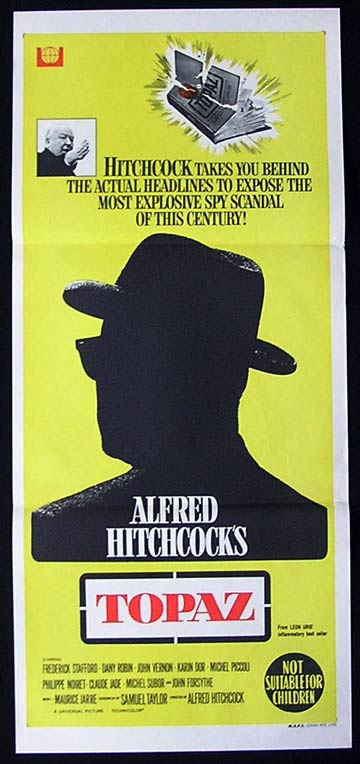 TOPAZ 1969 Alfred Hitchcock Forsythe RARE Daybill Movie poster