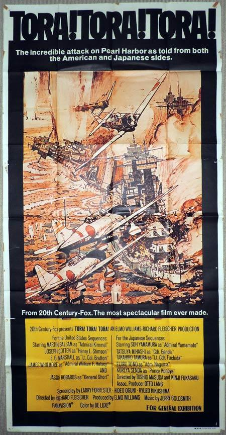 TORA TORA TORA Original 3 Sheet Movie Poster Attack on Pearl Harbour