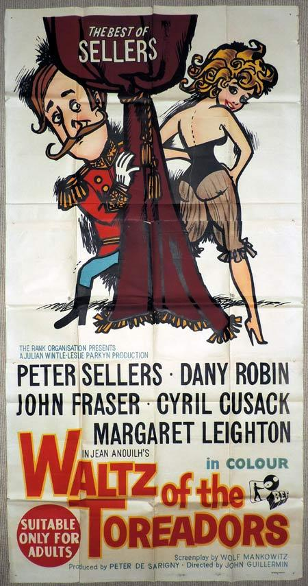 WALTZ OF THE TOREADORS Original 3 Sheet Movie Poster Peter Sellers