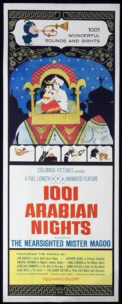 1001 ARABIAN NIGHTS US Insert Movie Poster Mr Magoo