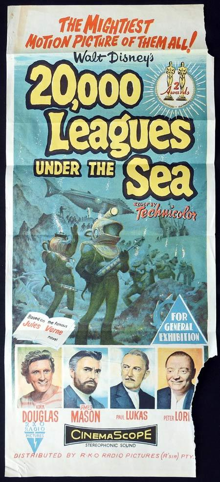 20,000 Leagues Under the Sea, Richard Fleischer, Kirk Douglas, James Mason, Paul Lukas, Peter Lorre