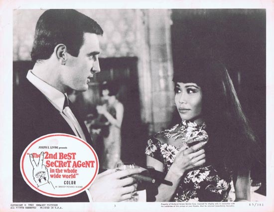 THE 2ND BEST SECRET AGENT IN THE WHOLE WIDE WORLD aka LICENSED TO KILL 1965 Lobby Card 3