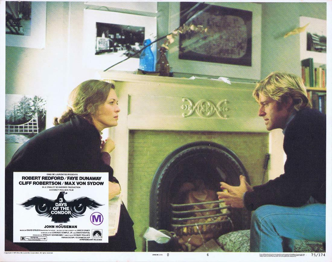 3 DAYS OF THE CONDOR Lobby Card 6 1975 Faye Dunaway Redford