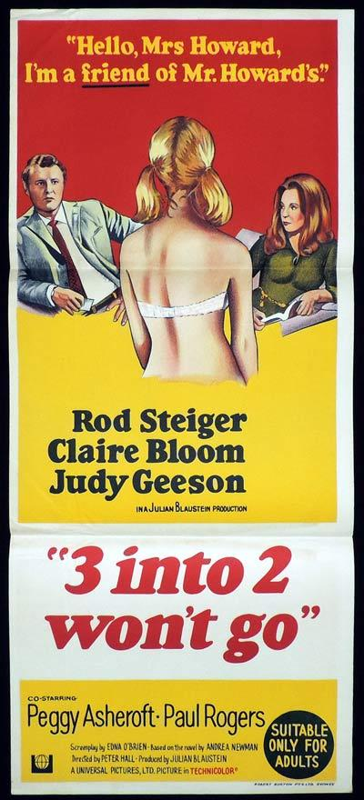 Three into Two Won't Go, Peter Hall, Rod Steiger, Judy Geeson, Claire Bloom