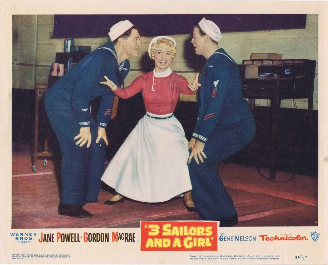 3 SAILORS AND A GIRL Vintage Lobby Card 7 Jane Powell Gordon MacRae Gene Nelson