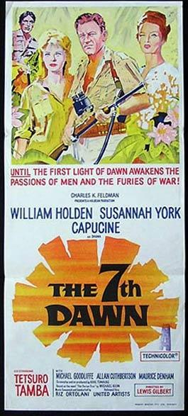 THE 7TH DAWN Original Daybill Movie Poster William Holden