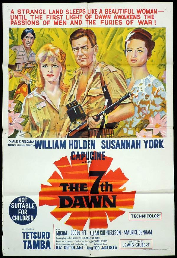 THE 7TH DAWN One Sheet Movie Poster William Holden