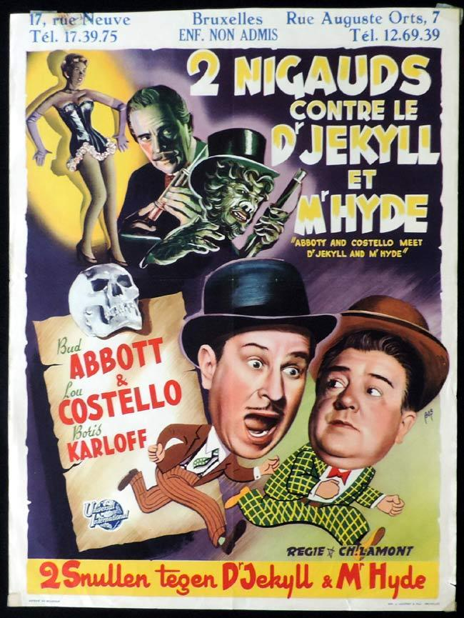 ABBOTT AND COSTELLO MEET DR JEKYLL AND MR HYDE Original Belgian Movie poster