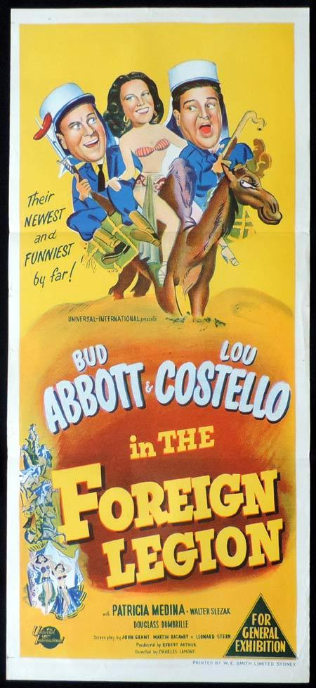 Abbott and Costello in the Foreign Legion, Bud Abbott, Lou Costello, daybill, movie poster