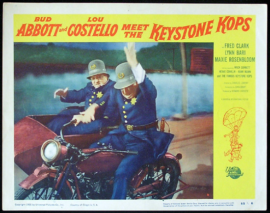 ABBOTT AND COSTELLO Meet the Keystone Cops 1955 Lobby Card