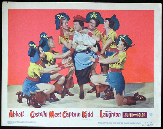 ABBOTT AND COSTELLO Meet Captain Kidd 1953 Lobby Card
