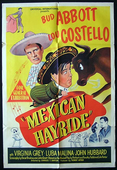 MEXICAN HAYRIDE 1948 Rare ORIGINAL One sheet poster Abbott and Costello