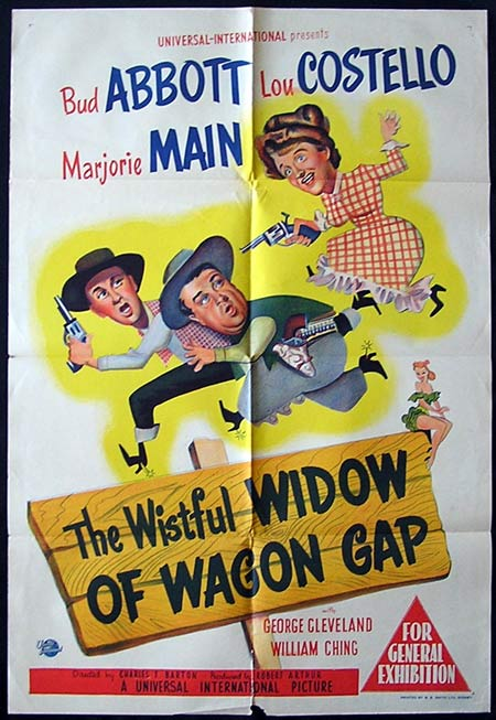 THE WISTFUL WIDOW OF WAGON GAP Original One sheet poster Abbott and Costello