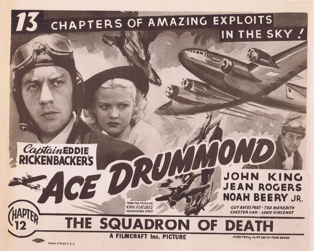 ACE DRUMMOND Original Title Lobby Card Chapter 12 Universal Serial 1940sr John 'Dusty' King