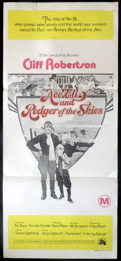 ACE ELI AND RODGER OF THE SKIES Daybill Movie poster Cliff Robertson