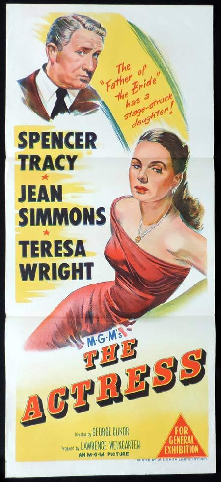 THE ACTRESS Original Daybill Movie Poster Spencer Tracy Jean SImmons