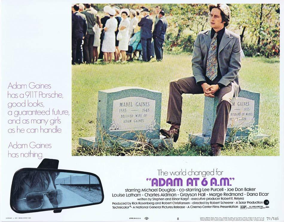 ADAM AT 6 AM Lobby Card 8 Michael Douglas Lee Purcell Joe Don Baker