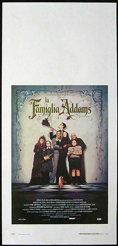 THE ADDAMS FAMILY Italian Locandina Movie Poster Anjelica Huston
