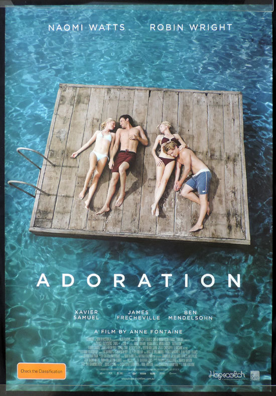 ADORATION Movie poster Naomi Watts Robin Wright Australian Cinema One sheet