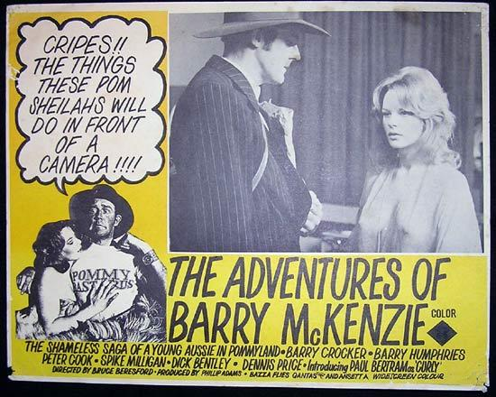 ADVENTURES OF BARRY MCKENZIE '72 Barry Humphries Lobby card 1