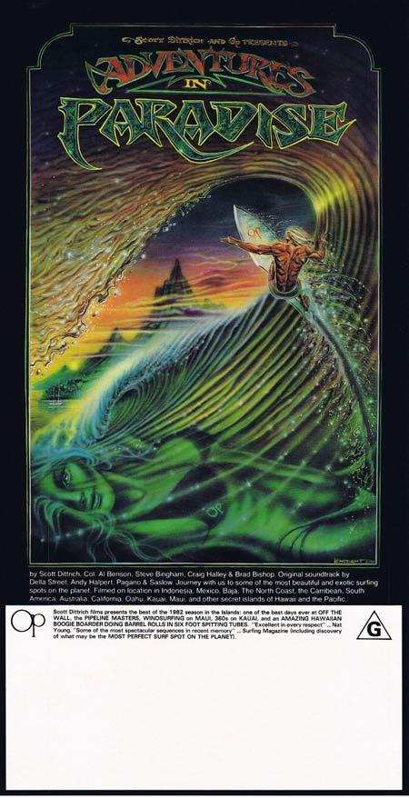 Adventures In Paradise 1982 Rare Surfing Daybill Movie Poster