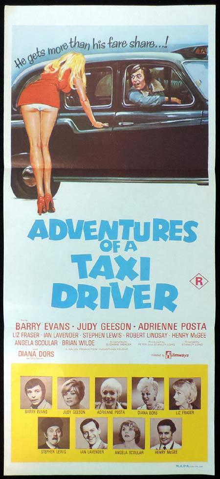 ADVENTURES OF A TAXI DRIVER Original Daybill Movie Poster Barry Evans Judy Geeson Adrienne Posta