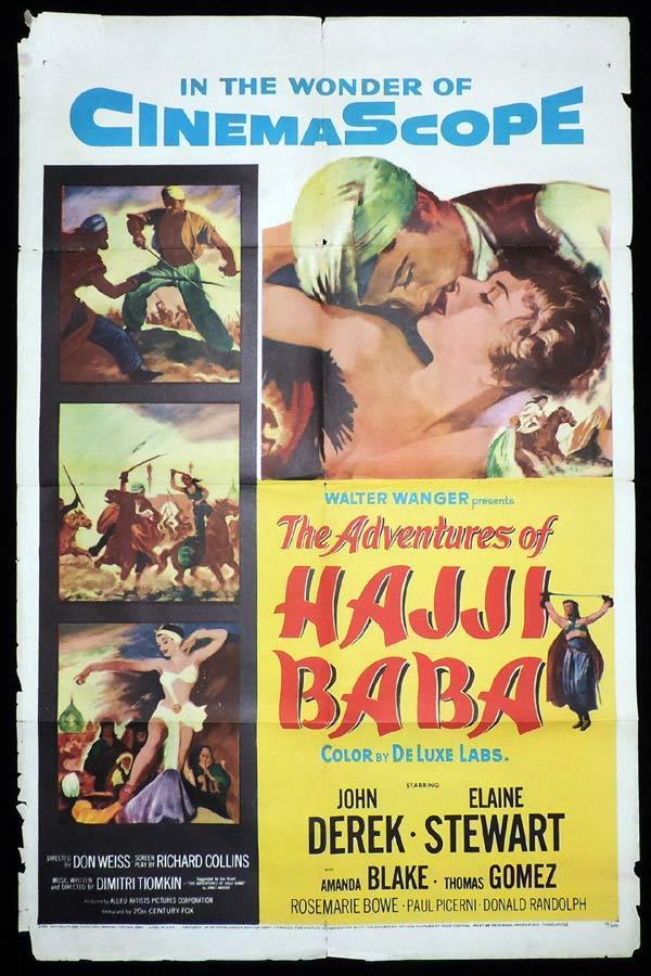 ADVENTURES OF HAJI BABA One Sheet Movie Poster John Derek