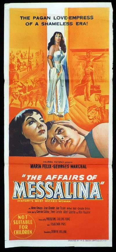 AFFAIRS OF MESSALINA Daybill Movie Poster Maria Felix