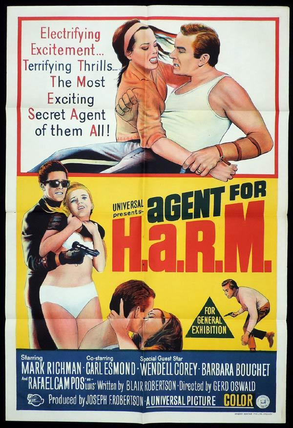 AGENT FOR HARM One Sheet Movie Poster Peter Mark Richman