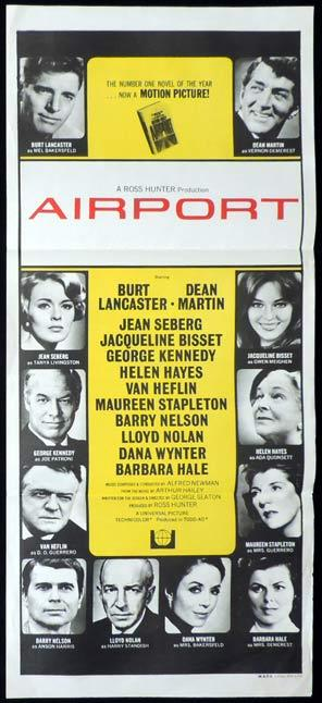AIRPORT daybill Movie poster Burt Lancaster