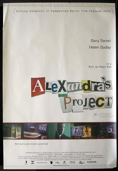 ALEXANDRA'S PROJECT 2003 1 sheet Movie poster Gary Sweet