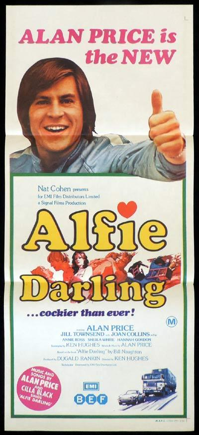 ALFIE DARLING Original Daybill Movie Poster Alan Price