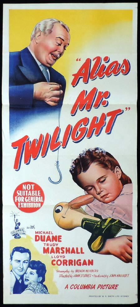 ALIAS MR TWILIGHT Original Daybill Movie Poster Michael Duane John Sturges