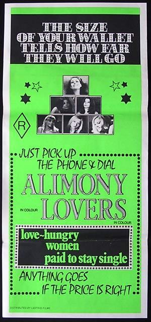 ALIMONY LOVERS '69-RARE Original Sexploitation poster