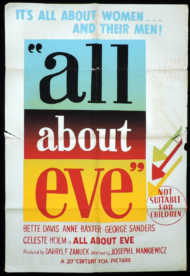 ALL ABOUT EVE One Sheet Movie Poster Bette Davis