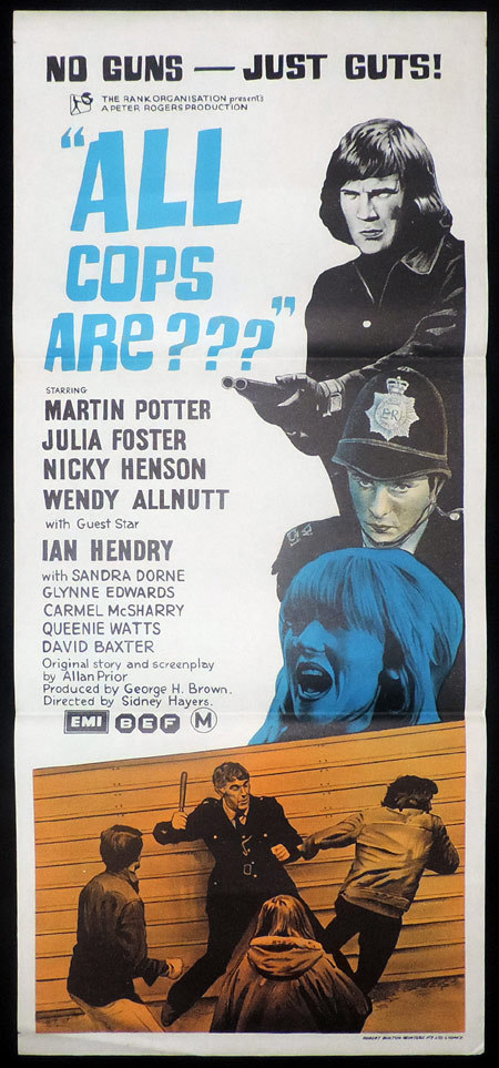 ALL COPS ARE daybill Movie poster Martin Potter aka All Coppers Are