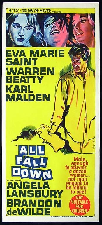 ALL FALL DOWN Daybill Movie poster 1962 Eva Marie Saint