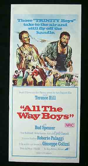 ALL THE WAY BOYS daybill Movie Poster Terence Hill Bud Spencer